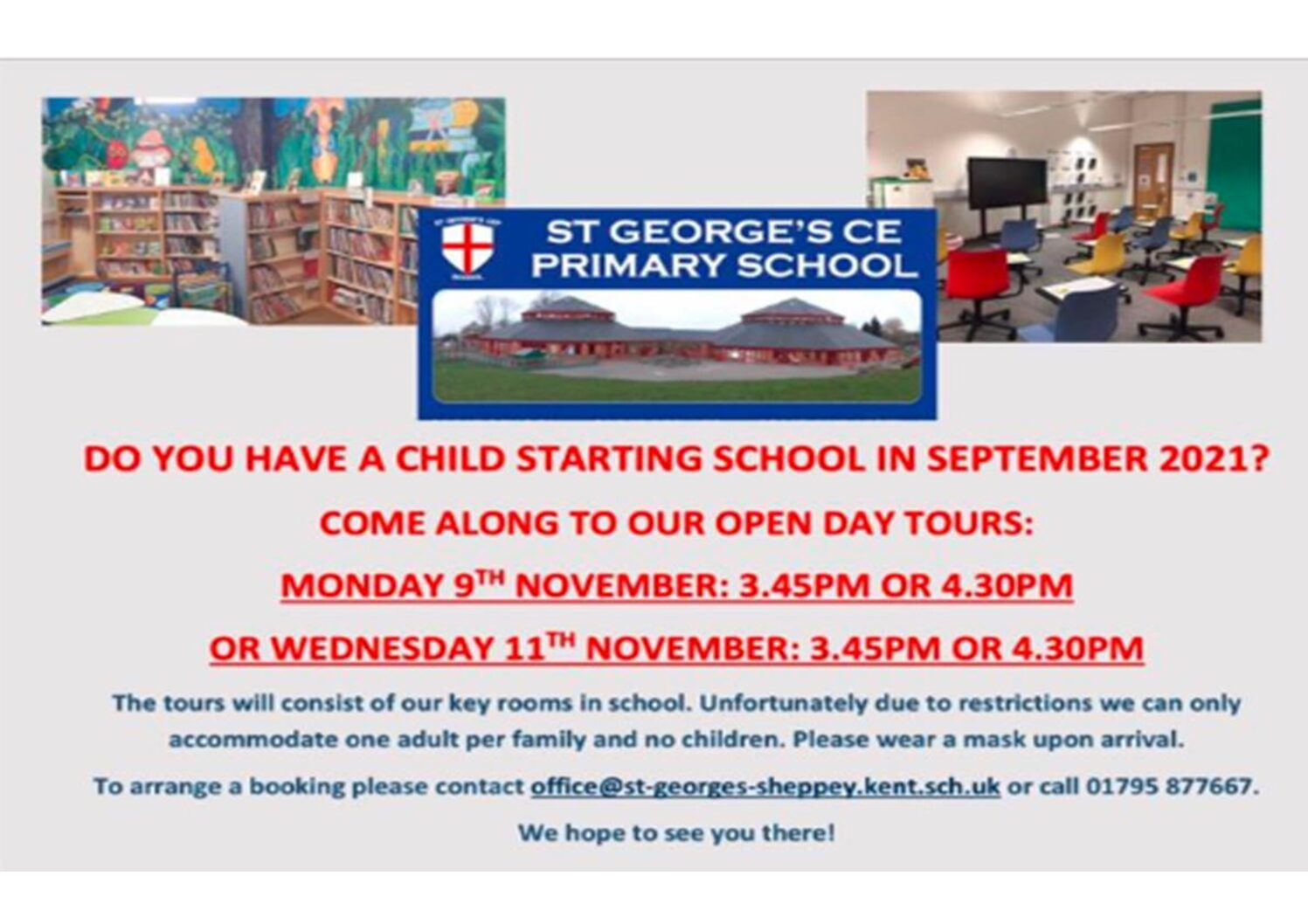 St Georges CE Primary School Open Days 2020